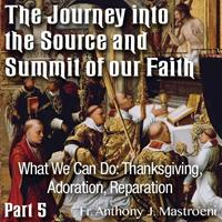 The Journey into the Source and Summit of our Faith: 05 - What We Can Do: Thanksgiving, Adoration, Reparation
